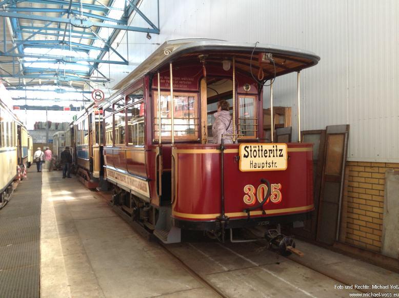 Straßenbahnmuseum Leipzig: Wagen 305