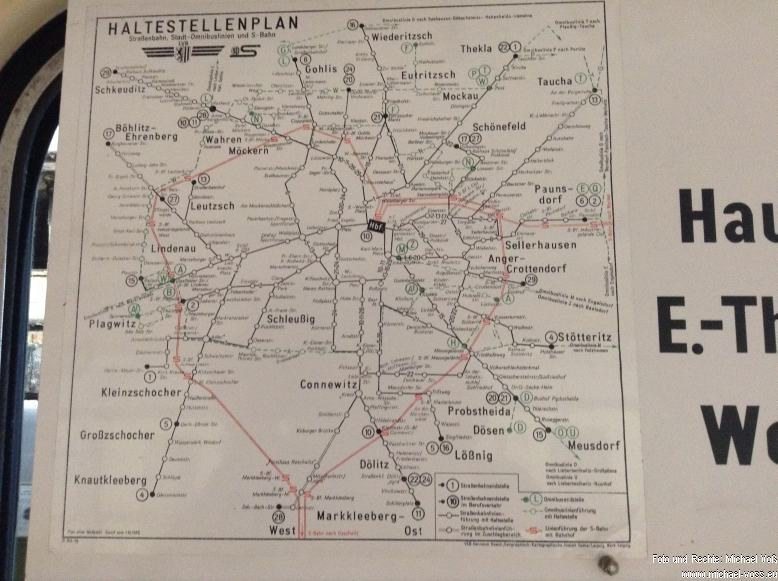 Straßenbahnmuseum Leipzig: Das alte Netz
