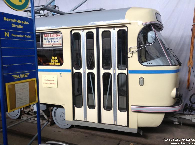 Straßenbahnmuseum Leipzig: Tratra im Original-Zustand