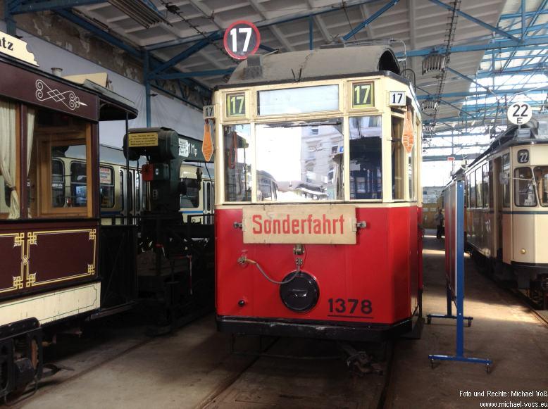 Straßenbahnmuseum Leipzig: Wagen 1378