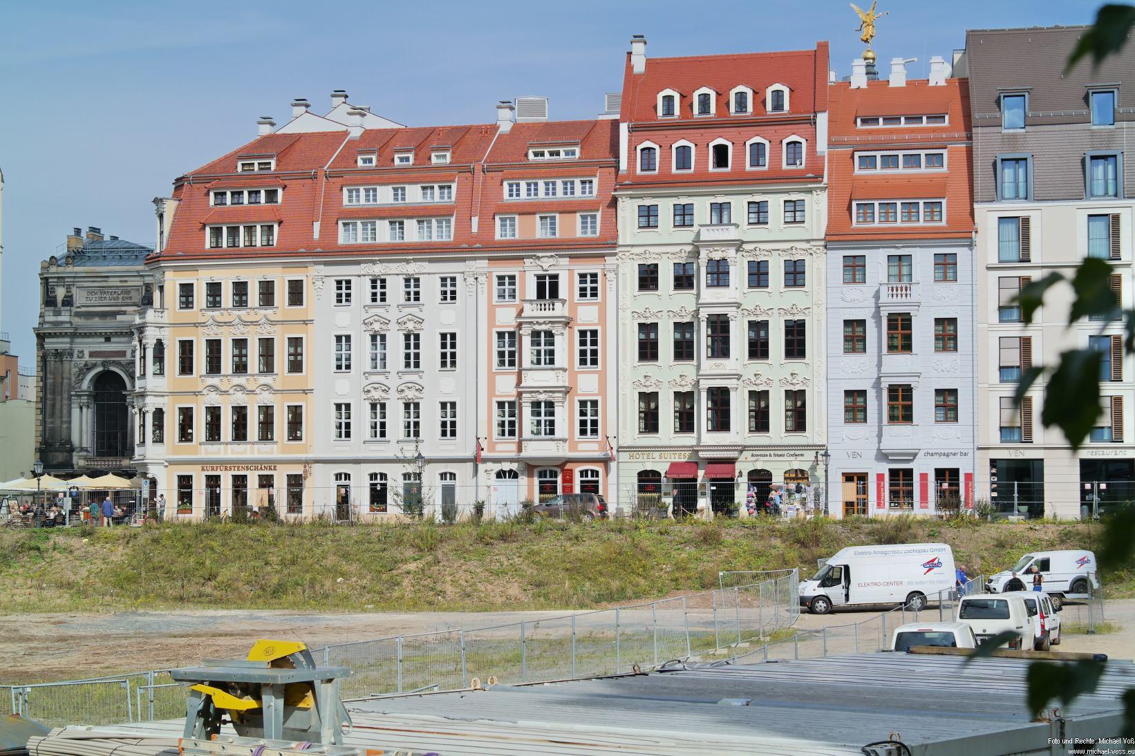 Dresden: Blick von der Landhausstraße zur Rampische Straße