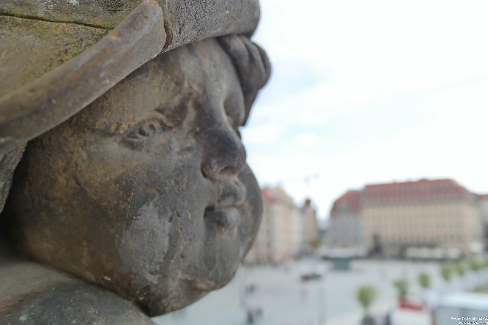 Dresden: Figur am Verkehrshistorischen Museum