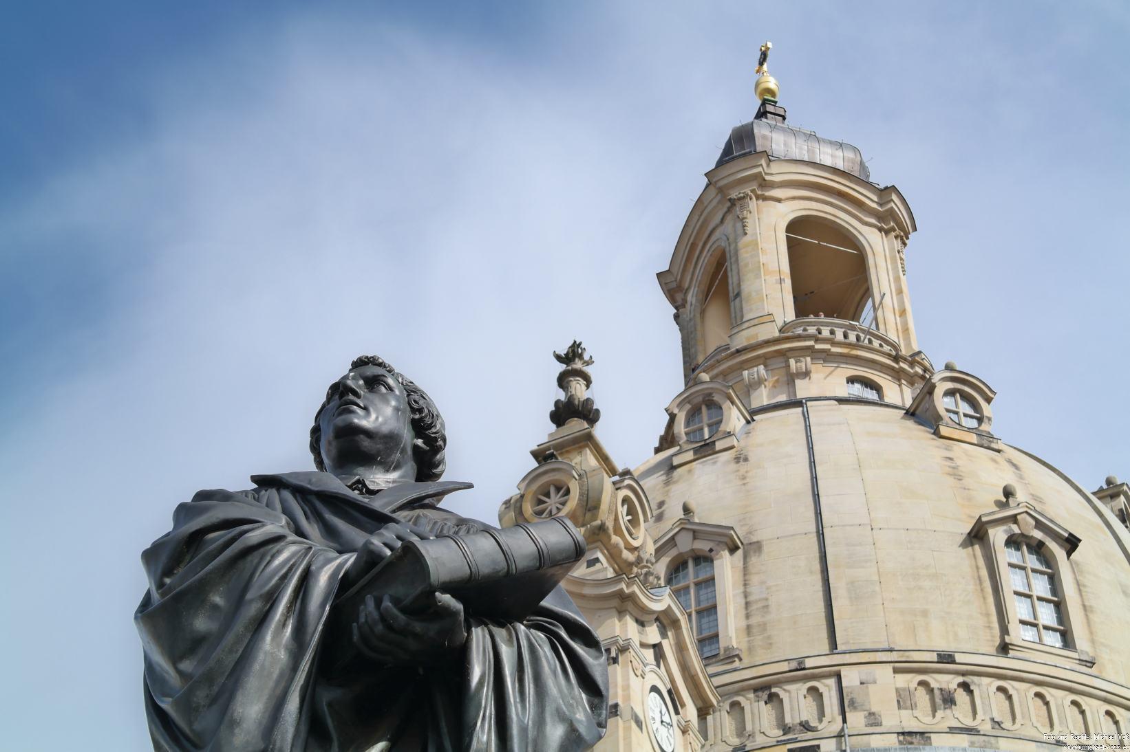 Dresden: Frauenkirche und Luther