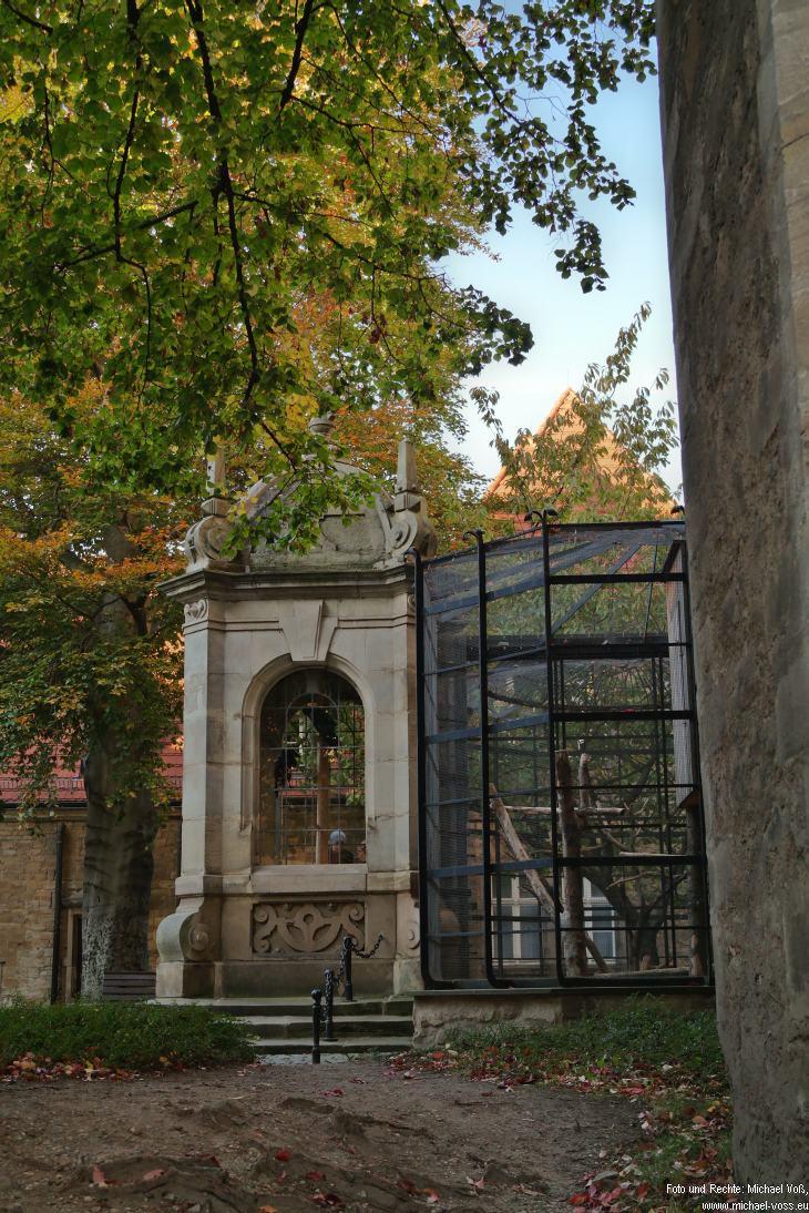 Merseburg: Schloss mit Raben