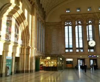 Osthalle des Leipziger Hauptbahnhofes